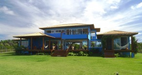 Cav50 – Blue house for sale in Cassange beach, Maraú, BA